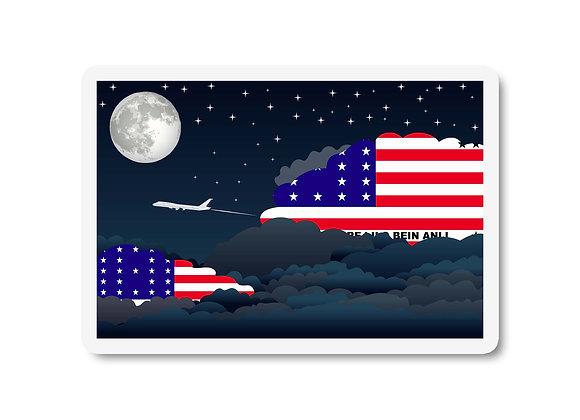Bikini Atoll Flags Night Clouds Sticker