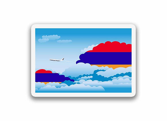 Armenia Flags Day Clouds Sticker
