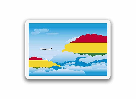 Bolivia Flags Day Clouds Sticker