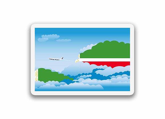 Chechen Republic Flags Day Clouds Sticker
