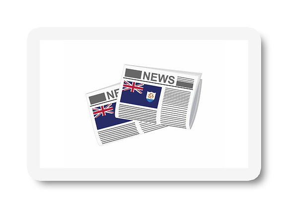 Anguilla Newspapers Sticker