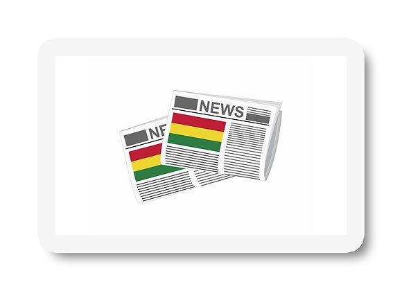Bolivia Newspapers Sticker