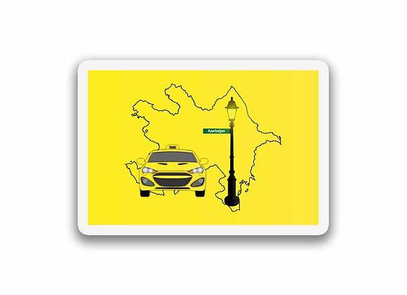 Azerbaijan Taxi Sticker