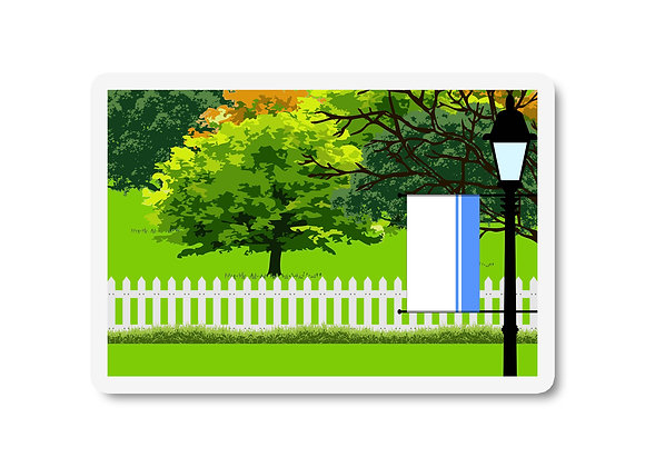 Altai Republic Flag Trees and Street Lamp Sticker