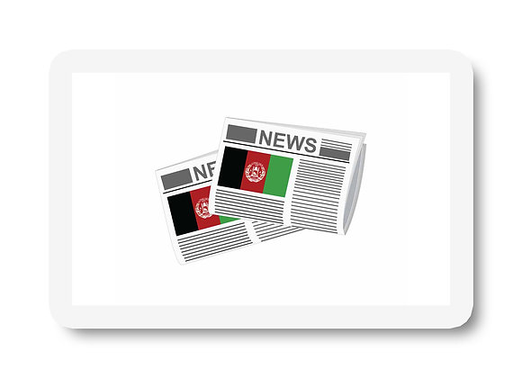 Afghanistan Newspapers Sticker