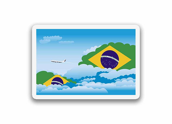 Brazil Flags Day Clouds Sticker