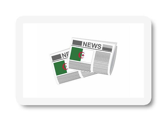 Algeria Newspapers Sticker