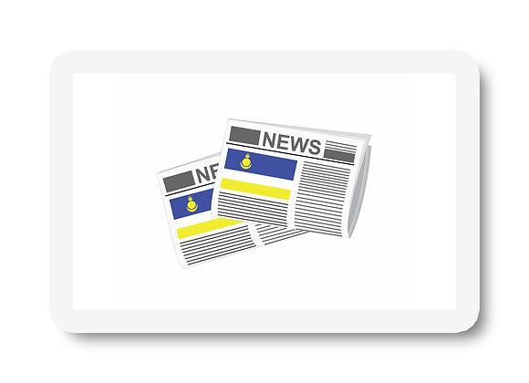 Buryatia Newspapers Sticker