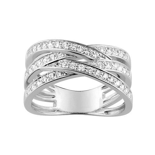 Bague diamants 0,50 carat or blanc