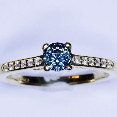 Bague or diamants et saphir