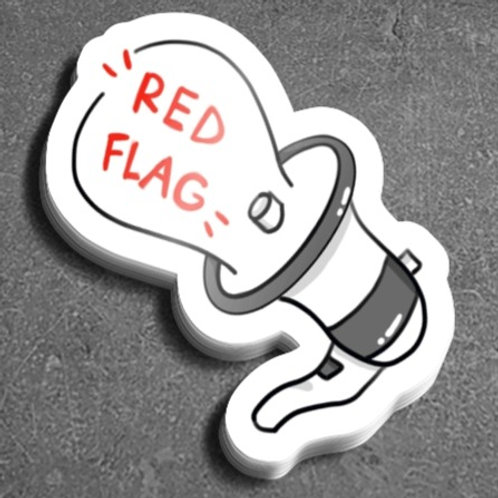 Megaphone Red Flag Sticker