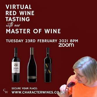 Virtual Wonderful Reds Tasting with our Master of Wine