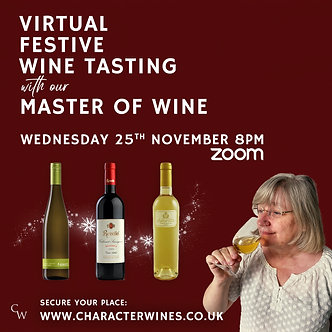 Virtual Festive Wine Tasting with our Master of Wine