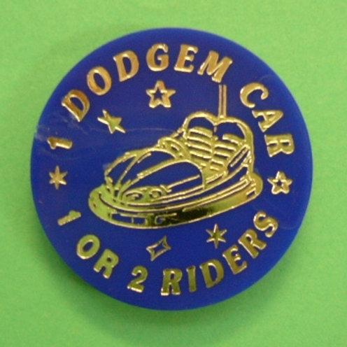 1 Dodgem Car Token - 1 or 2 Riders