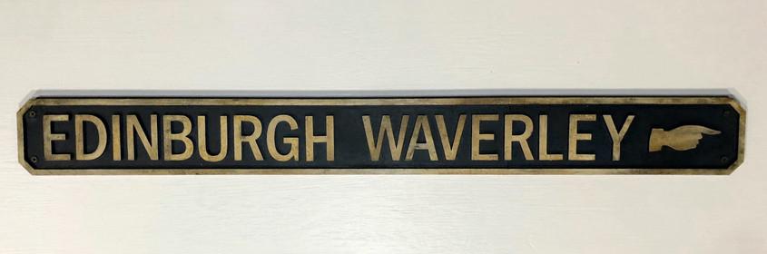 Edinburgh Waverley Station Sign, Prop