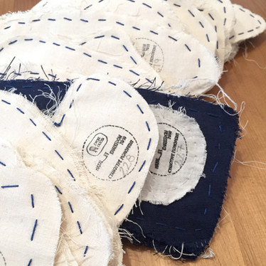 mono print-unique number for the prints on textile, 'Hayal-et Khalkedon'-'Imagine Khalkedon', 2019.