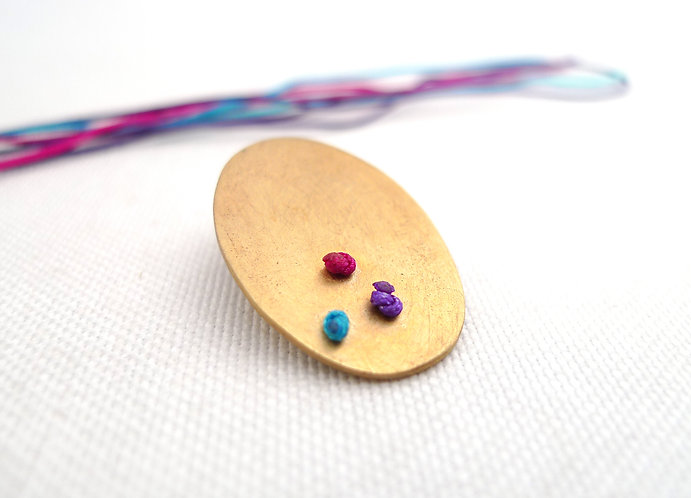 'chintamani' bronze knotted handmade pin