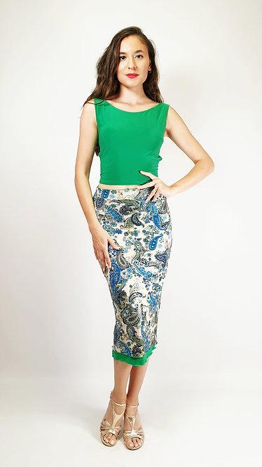 Top: Julia Emerald Green - Skirt: Porto Bello Paisley & Emerald Green
