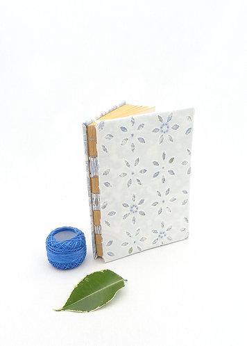 'blue flowers' handmade notebook