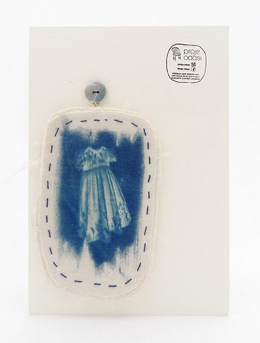 'capturing life:traces of memories' movable works,cyanotype monoprint,stitched