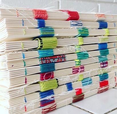 handmade notebooks designed for an exhibiton.