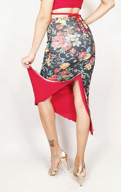 Passion de Barcelona Floral & Red Tango Skirt