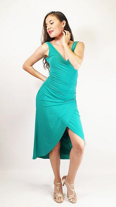 Sabrina - Cyan Tango Dress