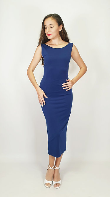 Bianca - Navy Blue Tango Dress