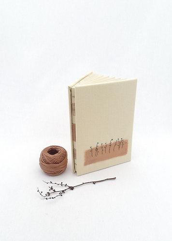 'ınspiring gardens' handmade notebook