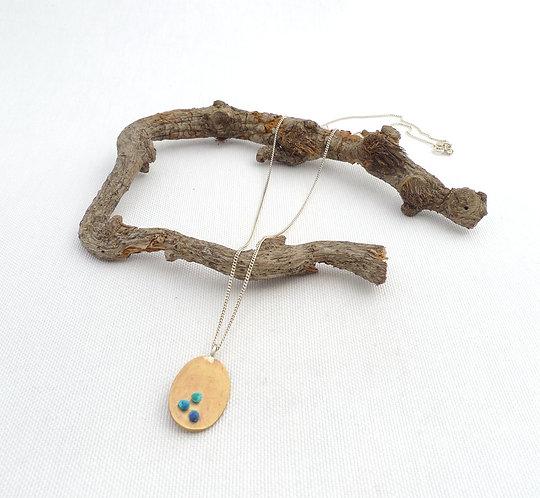 'textured Chintamani' textured handmade necklace