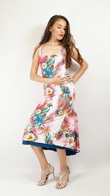 Berlin Love - Floral & Feathers Tango Dress