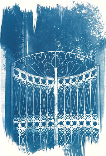 'capturing architecture: traces from history' cyanotype monoprint