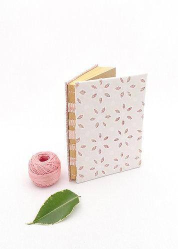'pink flowers' handmade notebook
