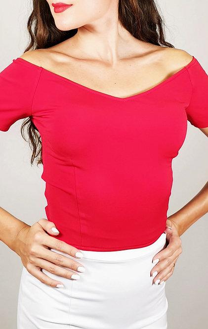 Valentina - Red Off Shoulder Tango Top