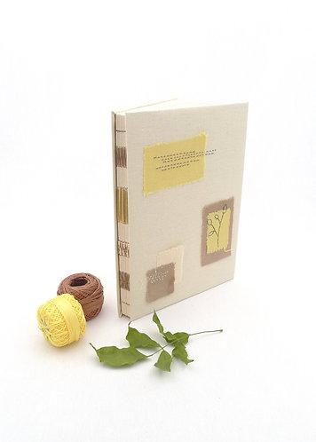 'courage to bloom' handmade notebook