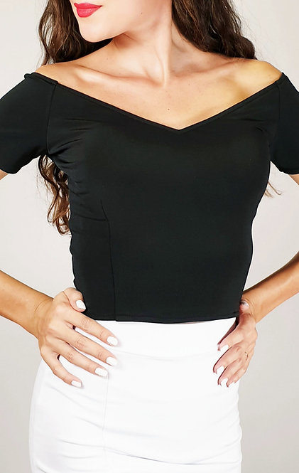Valentina - Black Off Shoulder Tango Top