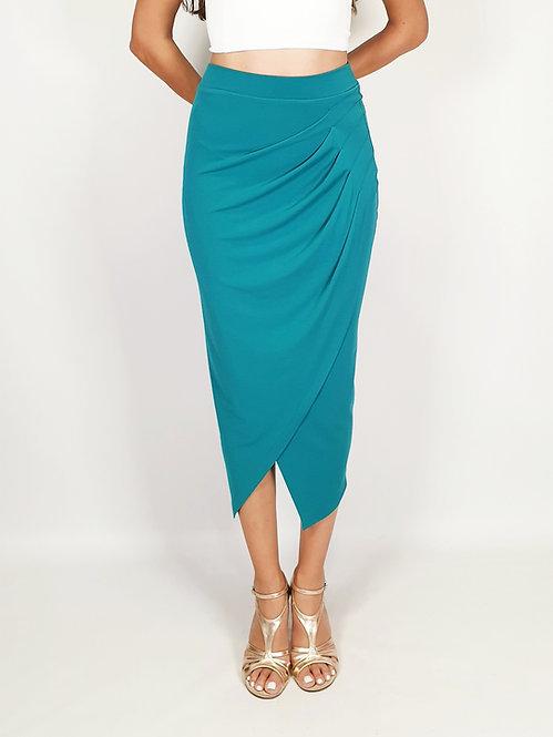 Caroline - Cyan Tango Skirt