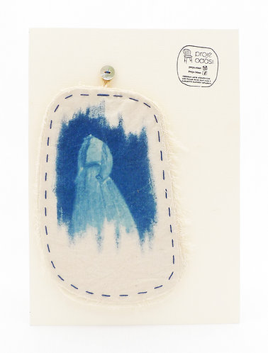 'capturing life:traces of memories' movable works, cyanotype monoprint,stitched