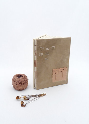 'automn whispers' handmade notebook