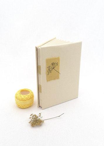 'alluring dandelion' handmade notebook