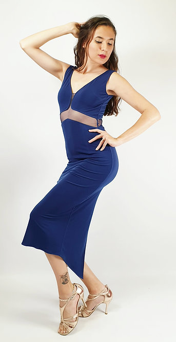 Angelina - Navy Blue Tango Dress