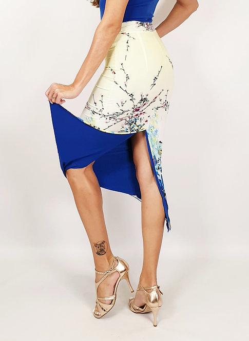 Sydney Charm Floral & Sax Blue Tango Skirt