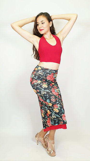 Top: Anna Red - Skirt: Passion de Barcelona Floral & Red
