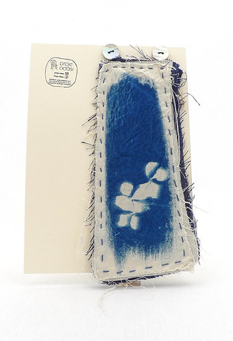 'capturing nature:gardens we dream' movable works, cyanotype monoprint,stitched