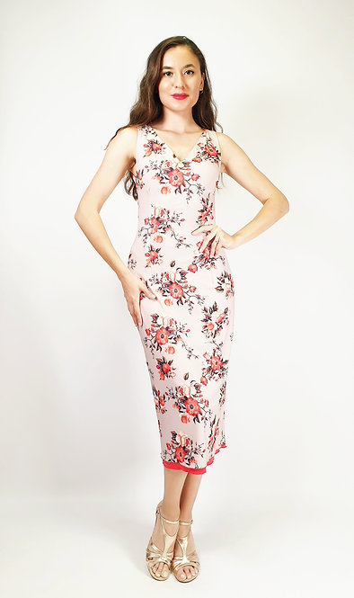 Mystic Bali - Floral & Orange Tango Dress