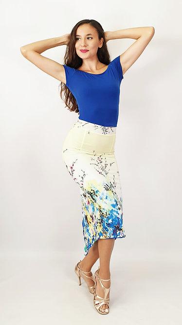 Top: Victoria Sax Blue - Skirt: Sydney Charm Floral & Sax Blue