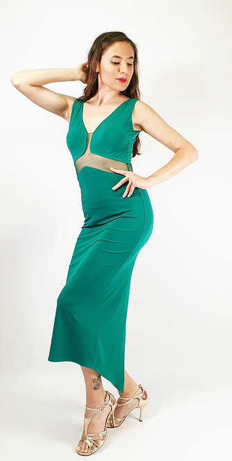 Angelina - Emerald Green Tango Dress