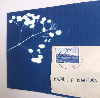 cyanotype collage from 'Hayal-et Khalkedon'-'Imagine Khalkedon' exhibition.