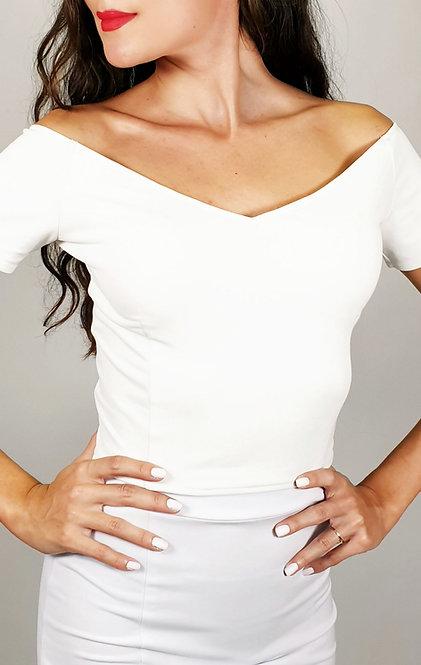Valentina - White Off Shoulder Tango Top