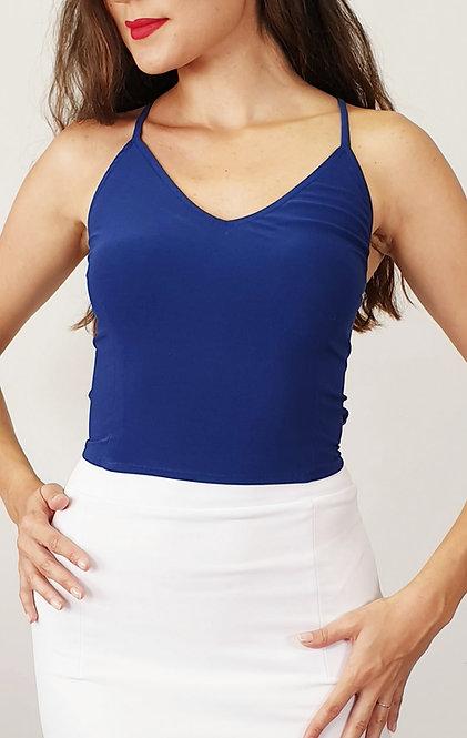 Alexandra - Navy Blue Tango Top